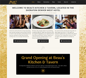 Beau's Kitchen & Tavern website